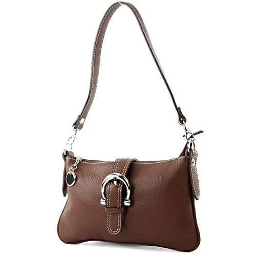 modamoda de - ital Ciudad- / bolso de hombro de cuero T05 pequeña, Color:marrón