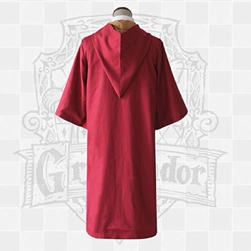 Quidditch Gryffindor Kostüm - Harry Potter cos Gryffindor Lynchlin Cape Umhang Magie Robe Quidditch Jersey Anzug Kleidung,Rot