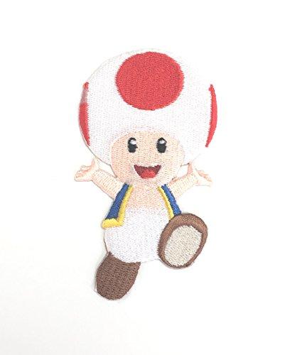 Kröte Patch Super Mario Brothers bestickt Eisen/Nähen auf Badge DIY Applikation Kostüm SNES Mario World Mario Kart