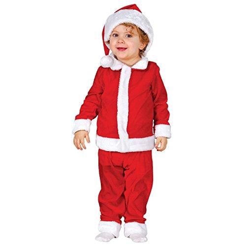 Kinder Weihnachtsmann Gr 80-92 Anzug mit Mütze Nikolaus Weihnachten Schultheater
