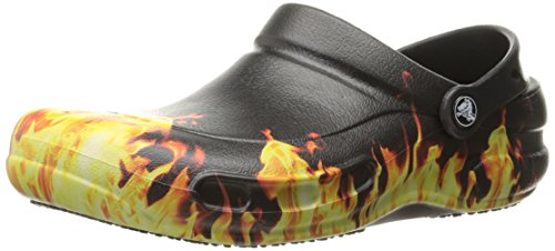 Crocs bistro graphic clog mlt, zoccoli unisex - adulto, nero (black), 45/46 eu