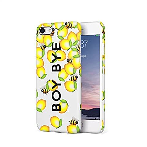Boy Bye Cute Bumblebees & Lemons Hard Thin Plastic Phone Case Cover For iPhone 7