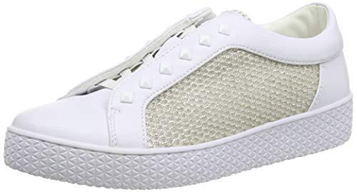 bugatti Damen 431525625969 Slip On Sneaker, Weiß (White/Metallic 2090), 39 EU
