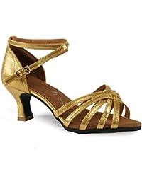 WXMDDN Zapatos de Baile Latino de Oro, Zapatos de Baile Zapatos de Fondo Blando 5.5cm Adulto Dance Dance Ejercicio...