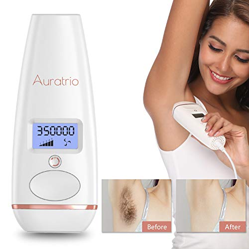 Auratrio T8 Essential IPL Haarentferner Haarentfernungsgerät für dauerhaft glatte Haut 350.000 Lichtimpulse, 5 Intensitätsstufen,für Körper, Gesicht, Bikini-Zone & Achseln, Auto Modus, bis zu 4.9J/cm²