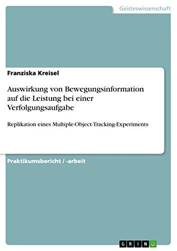Auswirkung von Bewegungsinformation auf die Leistung bei einer Verfolgungsaufgabe: Replikation eines Multiple-Object-Tracking-Experiments (Recovery Auswirkungen)