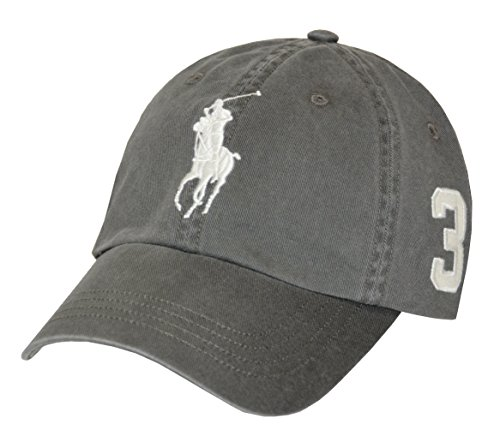 Polo Ralph Lauren Cap Big Pony Basecap Base Cap Mütze grey one Size (Base Polo)