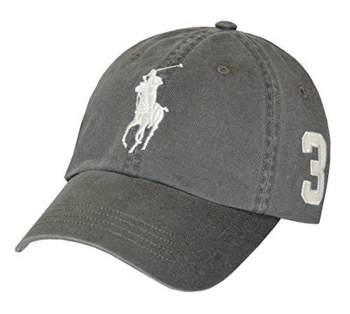 Polo Ralph Lauren Cap Big Pony Basecap Base Cap Mütze grey one Size (Polo Base)