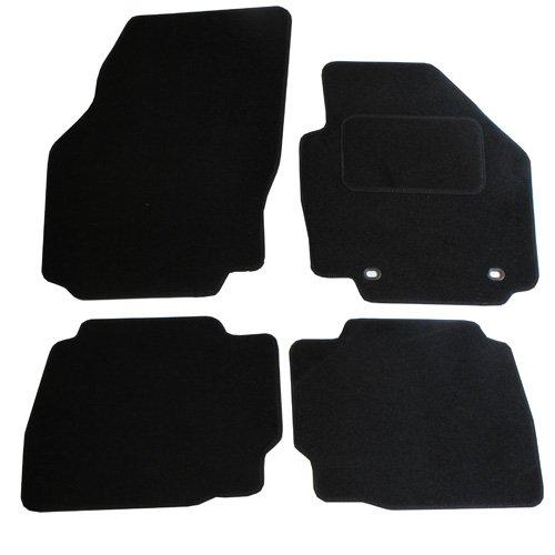 JVL Fußmatten für Ford Mondeo MK4 (2007-2012), passgenaues Automatten-Set mit 2 ovalen Clips, Schwarz -
