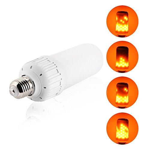 Kreema E27 LED Flammenemulation Licht Feuer Effekt Glühbirne Flimmern Beleuchtung für Weihnachten Halloween Urlaub Party Decor