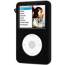DIGIFLEX Funda de silicona en color negro para iPod Classic de 80 GB y 120 GB