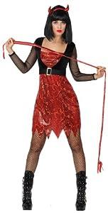 Atosa-14850 Disfraz Demonia para Mujer Adulto, color rojo, XS-S (14850)