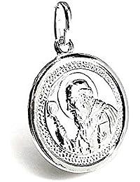 Colgante plata Ley 925m medalla San Benito 25mm. [AB1629]