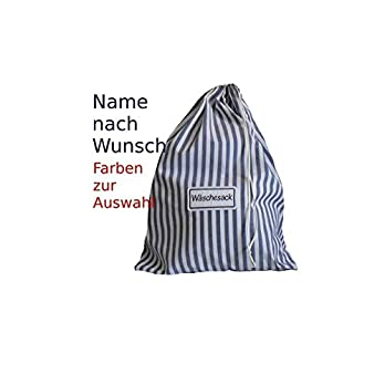 Wäschesack ab 19,90 € Streifen, personalisiert individualisiert mit Name bestickt, Größen und Farben wählbar