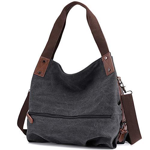 Huttoly Canvas Tasche Damen Umhängetaschen Handtasche Vintage Schultertasche Crossbody Bag Tasche Shopper Beuteltasche -
