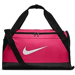 Nike NK Brsla S Duff Sac de Sport de Training (Petite Taille) Mixte Adulte, Rose Rush/Noir/Blanc, 51 x 25.5 x 28 cm, 40 l