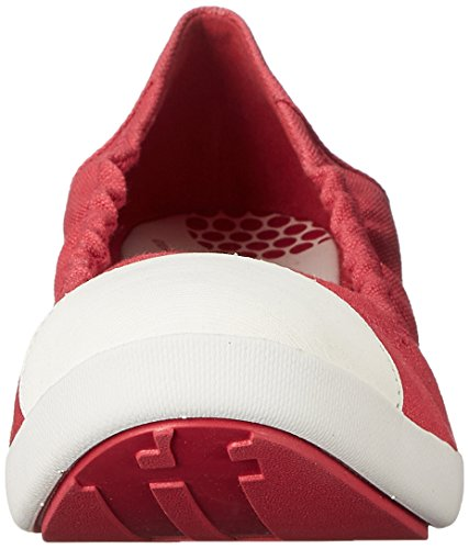 FitFlop - F Pop Ballerina Canvas Womens - Raspberry Rouge Raspberry