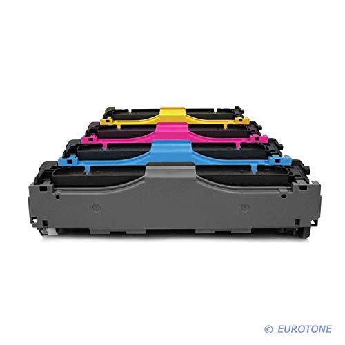 4X Müller Printware Remanufactured Toner für HP Color Laserjet Pro MFP M 476 dw nw DN ersetzt CF380X-83A 312A 312X