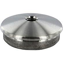 Edelstahl Rohrstopfen halbrund V2A Stopfen Endkappe Deckel Verschluss #8