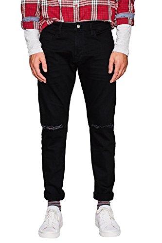 edc by ESPRIT Herren Skinny Jeans Schwarz (Black Rinse 910)