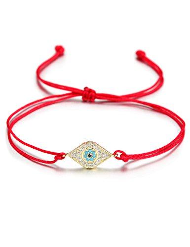 WISTIC Hamsa Evil Eye Einstellbare Armband Kabbalah Silber String Armband für Frauen Männer Mädchen Jungen