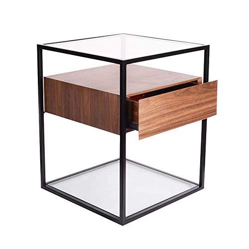 YueQiSong Nordic Nachttisch Nachttisch Schließfach Einfache Moderne Hartholz Wohnzimmer Platz Couchtisch Ecktisch -