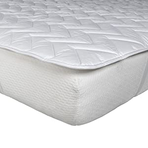 Homescapes Small Double Size Luxury Cotton Deep Quilted Mattress Topper, White