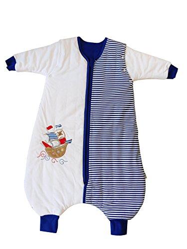 Schlummersack Ganzjahres Schlafsack mit Füßen in 2.5 Tog mit abnehmbaren Ärmeln - Pirat - 6-12 Monate/70cm -