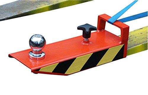 IB_KL Rangierhilfe für Gabelstapler Anhänger Stapler Kugelkopf Radlader Wohnwagen Gabeln maximal 110x50 Farbe rot