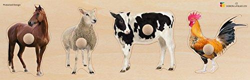 Doron Layeled E72515530Giant peg Puzzle- Animali della Fattoria