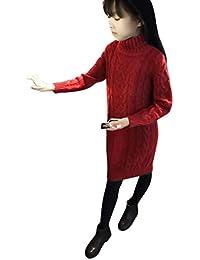 08d82e557334 Sensail Bébé Fille Pull Tricoté Robe d hiver Pulls Crochet Vêtements Tops  Fille avec Le