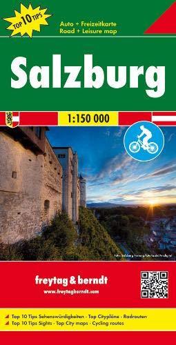 Salzburg, Autokarte 1:150.000, Top 10 Tips: Toeristische wegenkaart 1:150 000 (freytag & berndt Auto + Freizeitkarten)