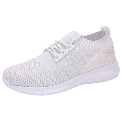 POLPqeD Donne Outdoor Mesh Tinta Unita Sport Scarpe Runing Traspirante Sneakers