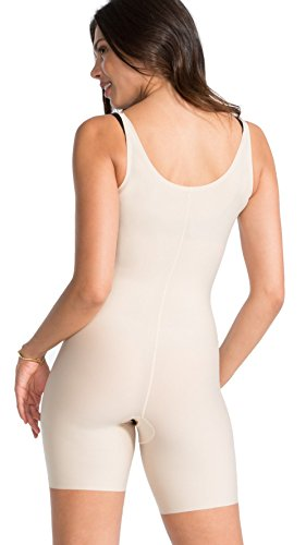 Spanx Thinstincts Open-Bust Mid-Thigh Bodysuit Very Black