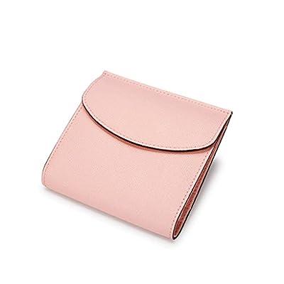 ZLR Mme portefeuille Porte-monnaie à trois cartes pli en cuir court à main en cuir court