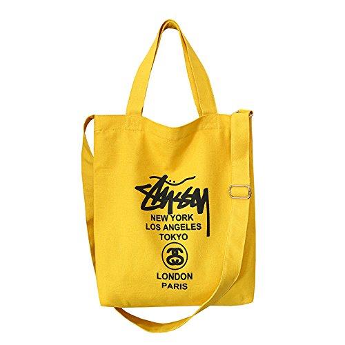 Cyjlwj Shoulder bag portable canvas bag female shoulder Messenger bag simple canvas bag custom shopping bag