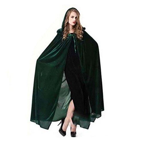 Dihope Damen Allerheiligen Poncho Umhang Kostüm Cape Schal mit (Haut Kostüme Grüne)