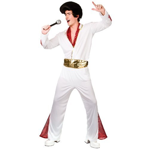 King of Rock n Roll Fancy Dress Stag 60s Costume (Elvis Kostüm Las Vegas)