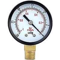 Pligh (TM) 0~ -30inhg 0~ -1bar mini Dial manometro misuratore di pressione manometro vuoto doppia scala strumenti di misura