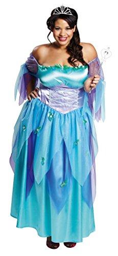 Karneval-Klamotten Fee-n-Kostüm Damen blau Cinderella Kostüm lang Märchen -
