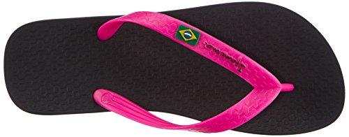 Ipanema Classica Brasil II Damen Zehentrenner Schwarz (Black/Pink 20753)