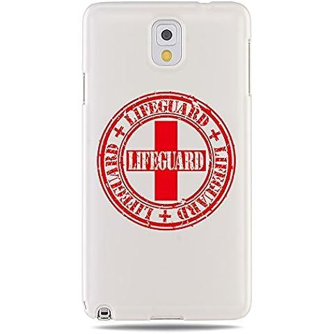 "GRÜV Premium Case - Design Stemma Lifeguard Guarda Spiaggia Vintage"" - Designer Stampa Alta Qualità su Cover Rigida Bianca - per Samsung Galaxy Note 3 III N9000 N900"