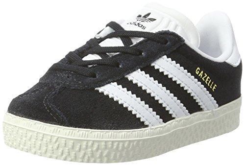 adidas Unisex-Kinder Gazelle Sneaker, Schwarz (Core Black/FTWR White/Gold Metallic), 22 EU