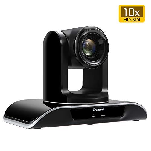 Tenveo Videokonferenzsystem Kamera für Videokonferenzen Büro Kirche Klassenzimmer,10X-SDI Optischer Zoom 1080P HDMI HD-SDI Conference Kamera (10-Fachen HD-Zoom,VHD10N)