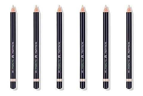 Dr.HAUSCHKA–Eye Definer 00Nude 6boîtes de 1,15g, crayon 100% naturel, éclairant, pigments minéraux, plantes officinali
