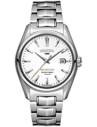 Roamer Men's Automatic Watch with White Dial Analogue Display and Silver Stainless Steel Bracelet 210633 41 25 20