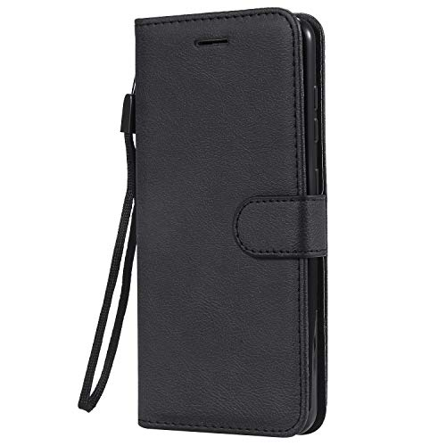 Azihone Compatible Coque Huawei Honor8/P8/P9/lite 2017 Étui de Protection Porte-Cartes en Cuir Portefeuille Multi-Usage Housse en Cuir Case Rabattable Fermeture Magnétique - Black