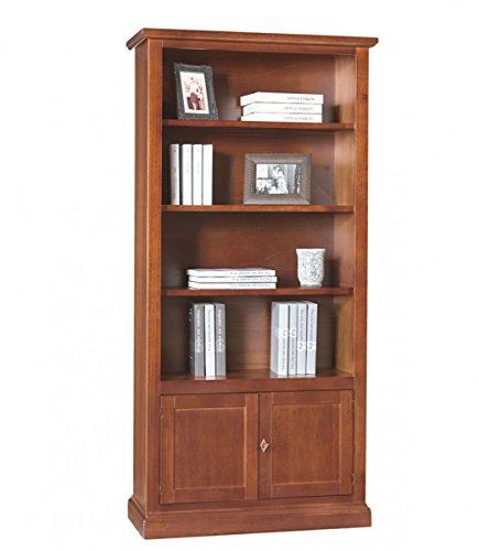 Spazio casa libreria classica in legno arte povera - noce