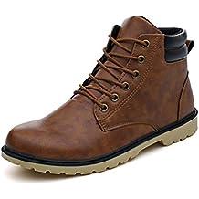 Familizo-Scarpe Fami Stivali bassi da uomo con montatura bassa alla caviglia Stivali invernali autunnali Scarpe casual da uomo