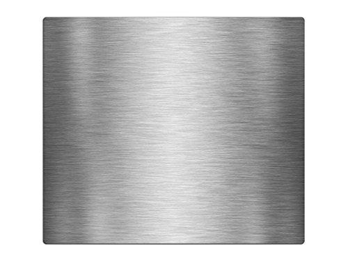 Herdabdeckplatten, Schneidebrett aus Glas, Edelstahl Optik gebürstet HA571458595 Variante 1x Scheibe (1 Panels)